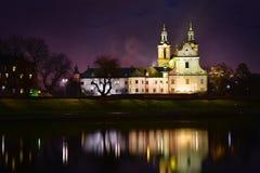 岩石的教会在克拉科夫,波兰 库存照片