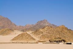 岩石的沙漠 图库摄影