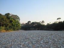 岩石的河床 库存图片