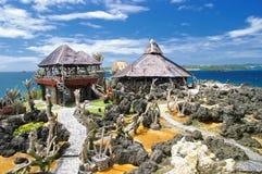 岩石的海岛 免版税库存图片