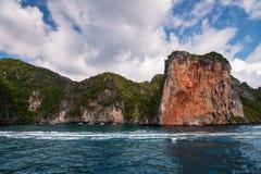岩石的海岸线 图库摄影