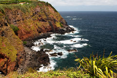 岩石的海岸 库存照片