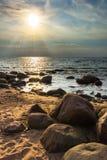 岩石的海湾 库存照片