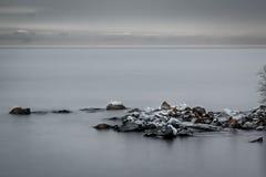 岩石的海湾 图库摄影