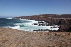 岩石的海滩 图库摄影