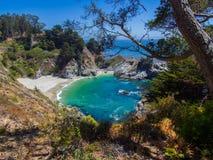 岩石的海滩 加利福尼亚 免版税库存照片