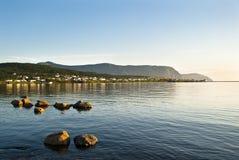 岩石的港口 库存照片