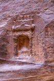 岩石的片段在古城Petra 免版税图库摄影