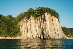 岩石的片段在黑海的 免版税库存照片