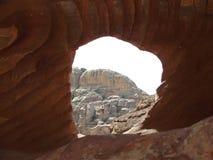 岩石的看法通过空白 图库摄影
