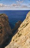 岩石的美丽的景色 库存图片