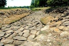 岩石的路径 免版税库存图片