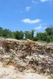 岩石的露出 免版税库存照片