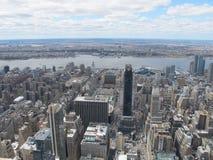 从岩石的顶端纽约地平线 免版税图库摄影