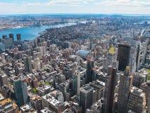 从岩石的顶端纽约地平线 库存照片