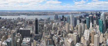 从岩石的顶端纽约地平线 库存图片