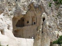 岩石的, Goreme,卡帕多细亚一个教堂 免版税库存照片