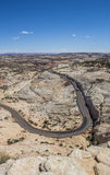 岩石的头俯视在风景小路12在犹他 免版税库存照片