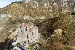 岩石的Asen的堡垒在阿塞诺夫格勒,保加利亚 免版税库存图片