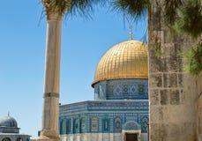 岩石的Golden Dome在耶路撒冷 图库摄影