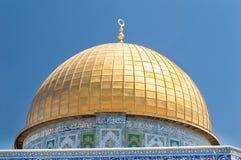 岩石的Golden Dome的细节在耶路撒冷 库存图片