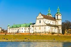 岩石的St. Stanislaus教会,克拉科夫,波兰 免版税库存图片