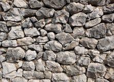 岩石石墙背景纹理-大自然岩石 免版税库存照片