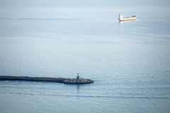 岩石码头,萨莱诺,意大利 库存照片