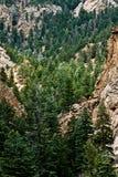 岩石科罗拉多的山 图库摄影