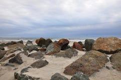 岩石科罗纳多海滩 库存照片