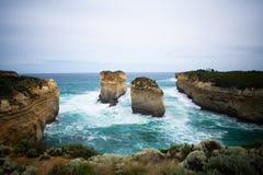 岩石群岛在海洋 免版税图库摄影