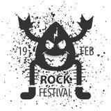 岩石节日在2月 岩石海报 库存图片