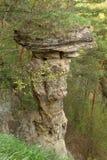 岩石蘑菇在Markusovce,斯洛伐克 免版税库存图片