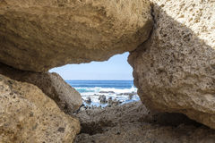 岩石被构筑的看法 库存照片