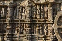 岩石被雕刻的太阳寺庙,科纳克太阳神庙 库存照片