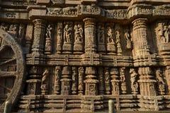 岩石被雕刻的太阳寺庙,科纳克太阳神庙 免版税库存图片