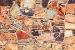 岩石被仿造的墙壁 免版税库存照片