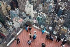 岩石观察台的洛克菲勒中心上面 免版税图库摄影