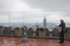 岩石观察台的洛克菲勒中心上面 免版税库存照片