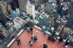 岩石观察台的洛克菲勒中心上面 免版税库存图片