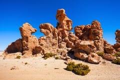 岩石谷,玻利维亚 库存图片