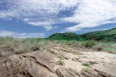 岩石足迹在Ibitipoca公园 库存照片