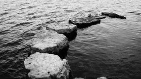岩石足迹 免版税图库摄影