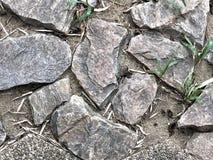 岩石路面的缺点 免版税库存照片