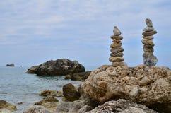 岩石透视图 免版税库存照片