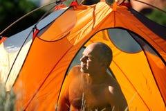 岩石野营的科罗拉多的山 免版税库存照片