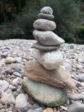 岩石金字塔 库存照片