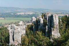 岩石镇上面  图库摄影