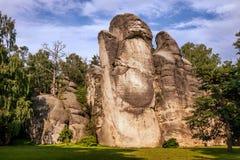 岩石镇在Adrspach 免版税库存照片