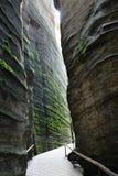 岩石镇Adrspach -特普利采在捷克 免版税库存照片